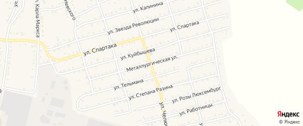 Металлургическая улица на карте Аши с номерами домов