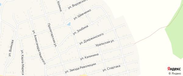 Улица Дзержинского на карте Аши с номерами домов