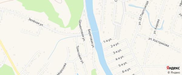 Береговая улица на карте Аши с номерами домов