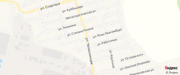 Улица Розы Люксембург на карте Аши с номерами домов