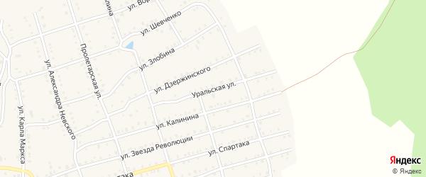 Уральская улица на карте Аши с номерами домов