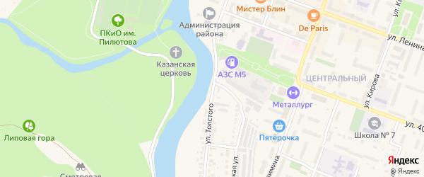 Улица Толстого на карте Аши с номерами домов
