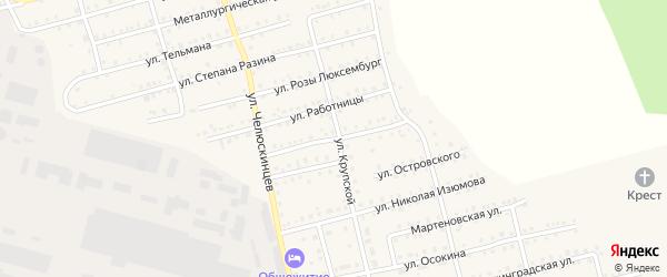 Силовая улица на карте Аши с номерами домов