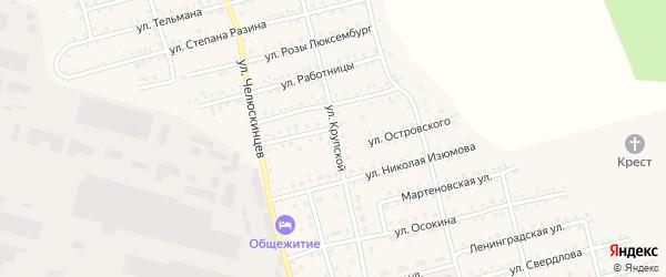 Улица Крупской на карте Аши с номерами домов