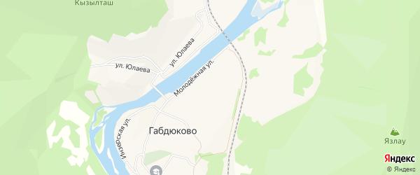 Карта села Габдюково в Башкортостане с улицами и номерами домов