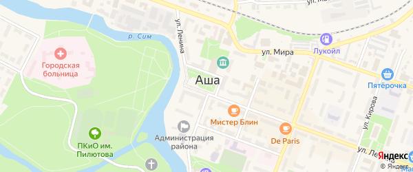 Улица Работница на карте Аши с номерами домов