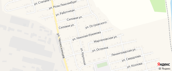 Улица Изюмова на карте Аши с номерами домов