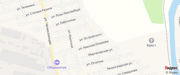 Улица Островского на карте Аши с номерами домов