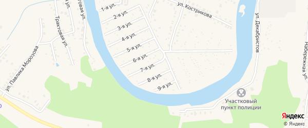 Сад СНТ 7 Березовая поляна на карте Аши с номерами домов