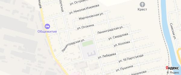 Ленинградская улица на карте Аши с номерами домов