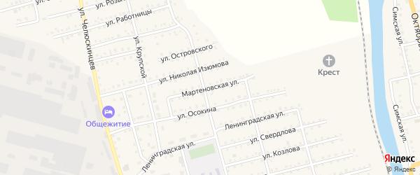 Мартеновская улица на карте Аши с номерами домов