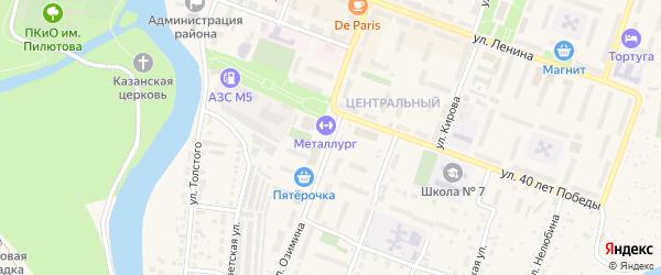 Улица Озимина на карте Аши с номерами домов