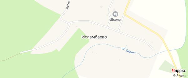 Улица Хамита Хайбуллина на карте деревни Исламбаево с номерами домов
