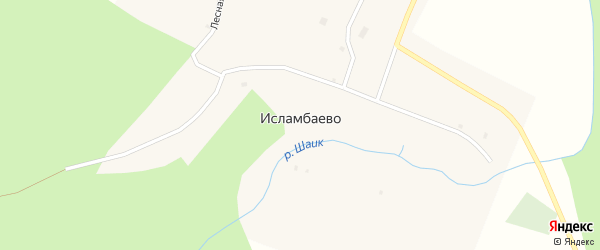 Лесная улица на карте деревни Исламбаево с номерами домов