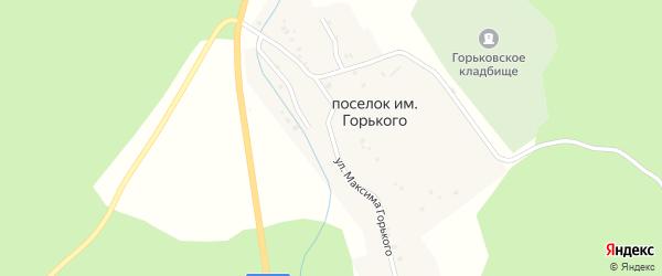 Улица Максима Горького на карте поселка Ука с номерами домов