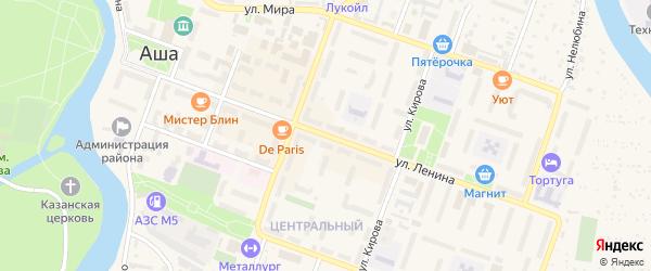 Улица Ленина на карте Аши с номерами домов