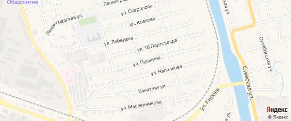 Территория ГК Пушкина на карте Аши с номерами домов