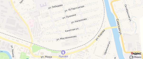 Канатная улица на карте Аши с номерами домов