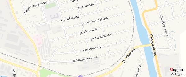 Улица Напалкова на карте Аши с номерами домов
