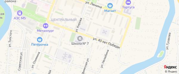Уфимская улица на карте Аши с номерами домов