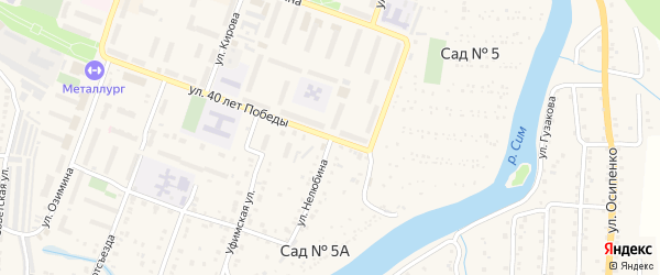 Улица Нелюбина на карте Аши с номерами домов