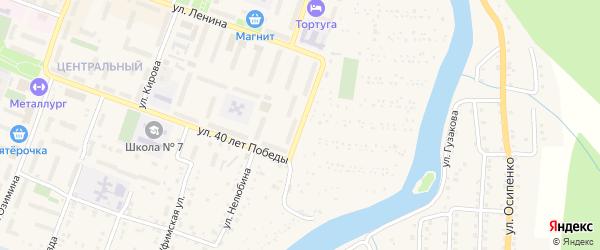 Красногвардейская улица на карте Аши с номерами домов