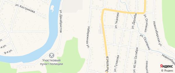 Набережная улица на карте Аши с номерами домов