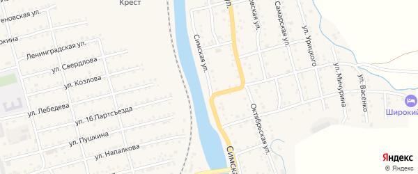 Симская улица на карте Аши с номерами домов