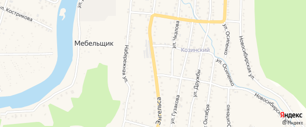 Улица Энгельса на карте Аши с номерами домов