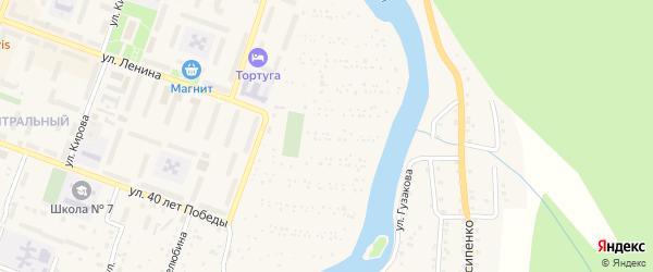 Сад СНТ 5-а на карте Аши с номерами домов