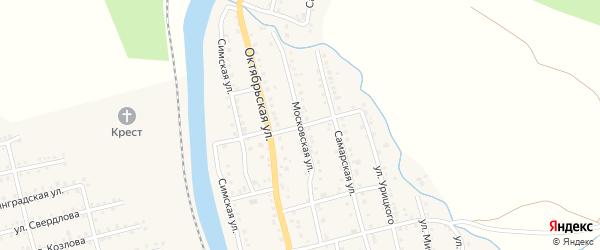 Московская улица на карте Аши с номерами домов
