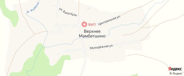 Улица Бака Куль на карте деревни Верхнее Мамбетшино с номерами домов