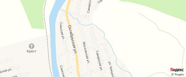 Самарская улица на карте Аши с номерами домов