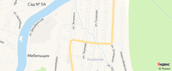 Улица Чкалова на карте Аши с номерами домов