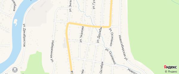 Улица Гузакова на карте Аши с номерами домов