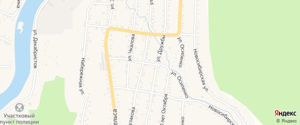 Территория ГК Козинский на карте Аши с номерами домов
