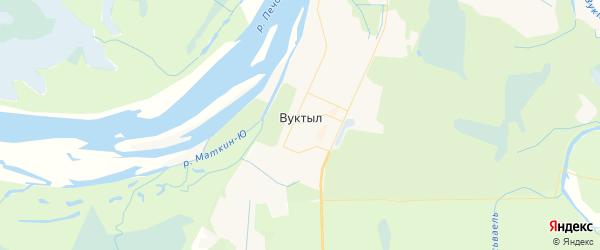 Карта Вуктыла с районами, улицами и номерами домов