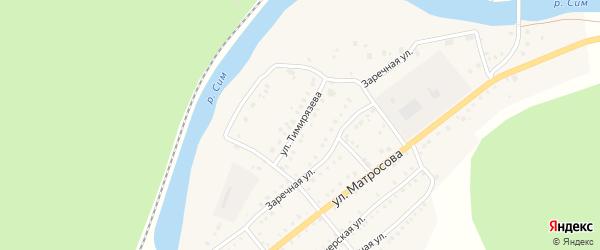 Улица Тимирязева на карте Аши с номерами домов
