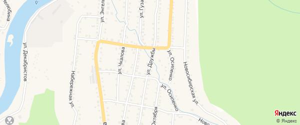 Улица Дружбы на карте Красногорского поселка с номерами домов