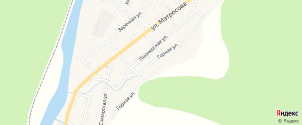 Горная улица на карте Аши с номерами домов