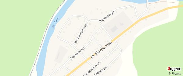 Заречная улица на карте Аши с номерами домов