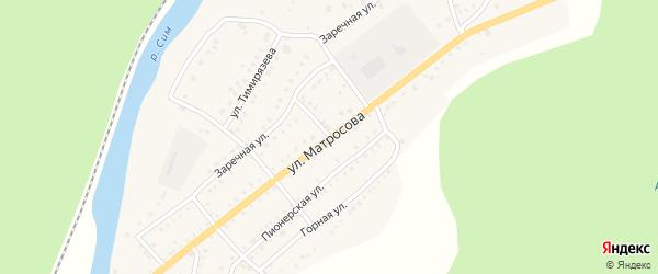 Улица Матросова на карте Аши с номерами домов