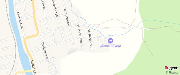 Улица Васенко на карте Аши с номерами домов