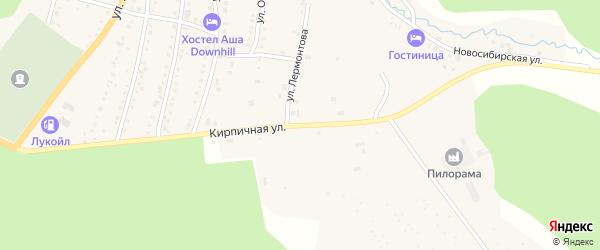 Кирпичная улица на карте Аши с номерами домов