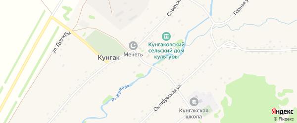 Октябрьская улица на карте деревни Кунгака с номерами домов
