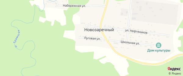 Луговая улица на карте Новозаречного поселка с номерами домов