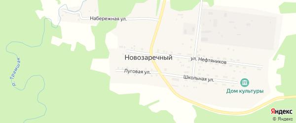 Набережная улица на карте Новозаречного поселка с номерами домов