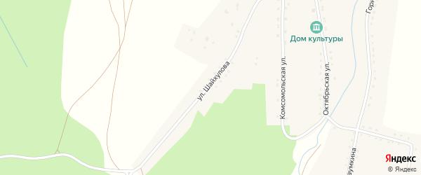 Улица Шайхулова на карте села Зигазы с номерами домов