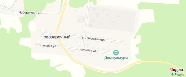 Улица Нефтянников на карте Новозаречного поселка с номерами домов