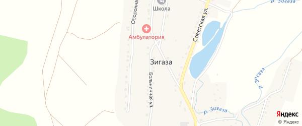 Больничная улица на карте села Зигазы с номерами домов
